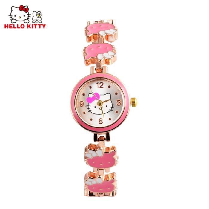 Dessin Fille Rose Hello Mignon Kitty Marque Animé Enfants Quartz Heure Montre Montres Cadeau Femmes Horloge Mode SVqUMGLpz