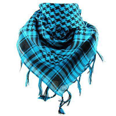 Keffieh palestinien Homme Femme bleu et noir Noir - Achat   Vente ... 9fe508f3265