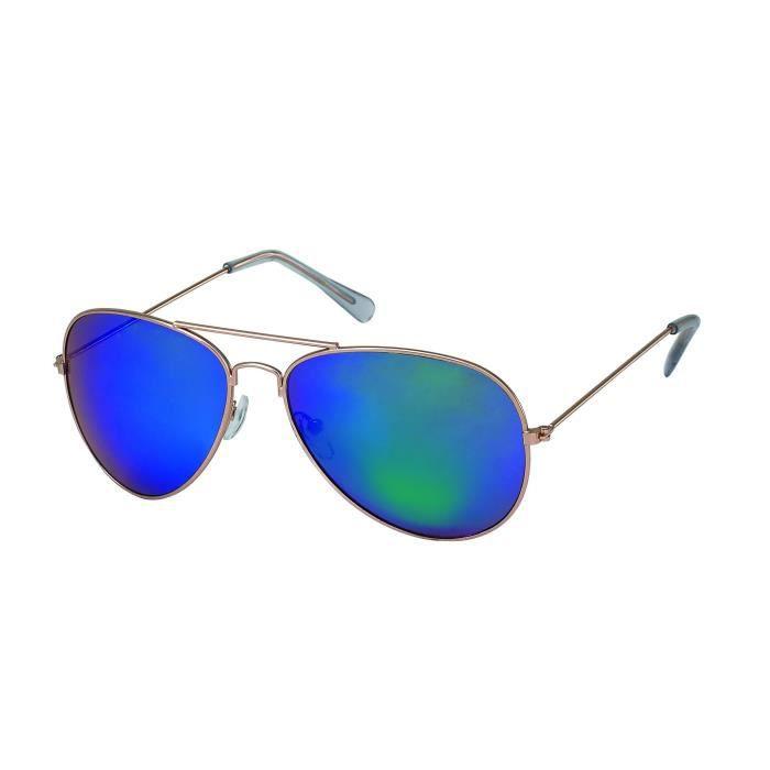 coloris miroir miroirs Verres 3033 Doré monture verres Lunettes Pilote Bleu vert 6 5026 YRpqYZg