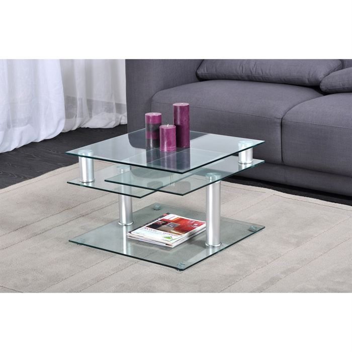 dino table basse transparente multi positions - achat / vente