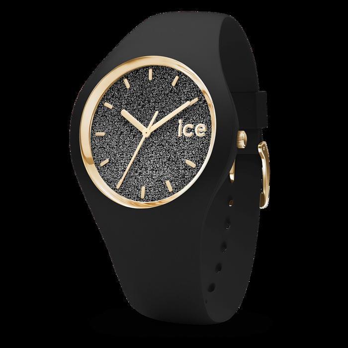 montre ice watch glitter unisex noir et paillettes achat. Black Bedroom Furniture Sets. Home Design Ideas