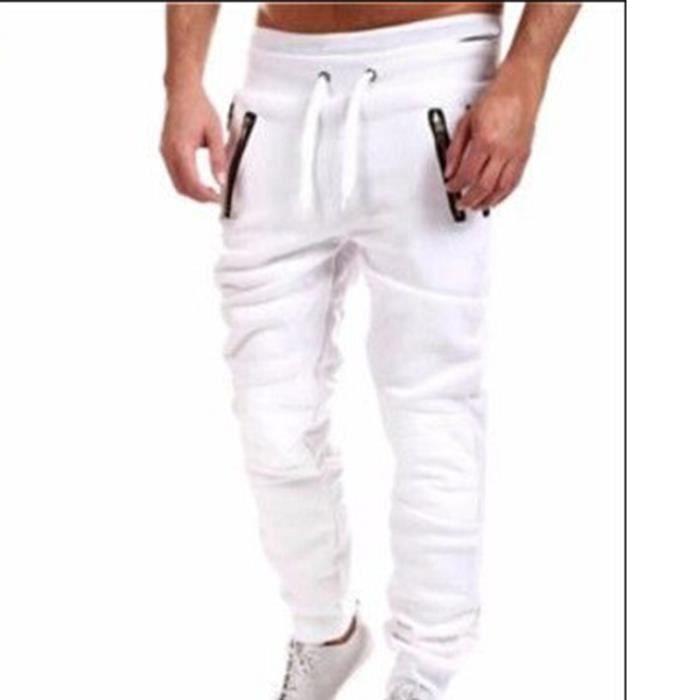 Homme Slim Coton Vêtement Noir Musculation Xl Fit Masculin Sport Pantalon dexoCB