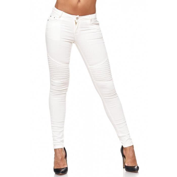 Taille Stretch Pantalon Top Tube Jeans Basse Femme Détruit fxqwEZav