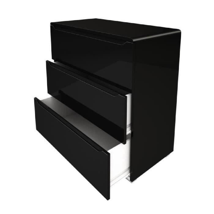 urbano commode de chambre contemporaine laqu noir. Black Bedroom Furniture Sets. Home Design Ideas