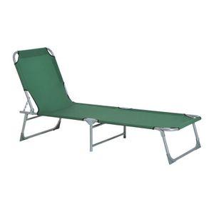 Transate pliable achat vente transate pliable pas cher for Chaise longue bain de soleil pliable