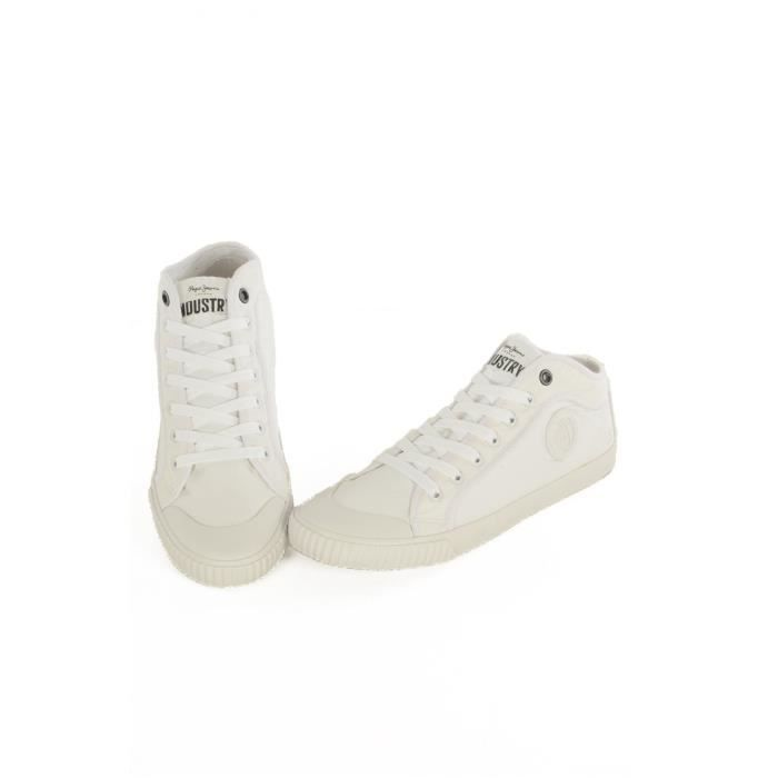 Sneakers en toile PMS30336 Industry -PEPE JEANS Blanc Homme oVdiMcP