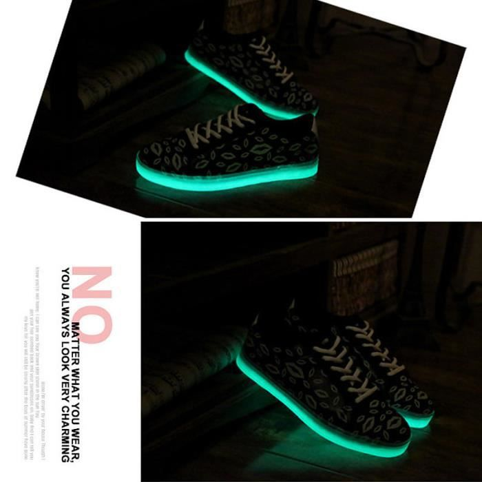 chaussures lumineuses Femmes Hommes Mode chaussures Casual Shoeschaussures lumineuses baskets fluorescents
