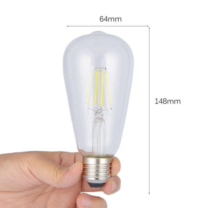 Maison Lumière Jaune Chaude Edison Ampoule St64 Filament E27 Led Vintage P8wqY14