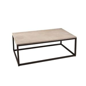 TABLE BASSE LALI Table basse Industrielle rectangulaire indust