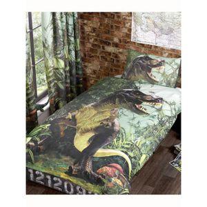 HOUSSE DE COUETTE T-Rex Dinosaur Housse de couette unique et Set Tai
