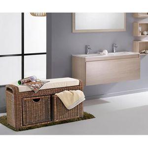 Salle de bain rotin achat vente salle de bain rotin - Banc de salle de bain ...