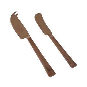 COUTEAU DE CUISINE  SP Set de couteau à fromage et à pâté Host - Or ro