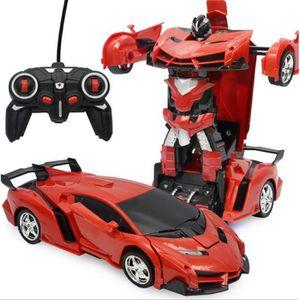 VOITURE - CAMION Voiture Transformers de Sport Télécommandé Transfo
