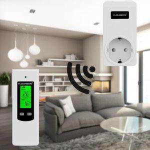 THERMOSTAT D'AMBIANCE Floureon thermostat prise sans fil RF régulateur d