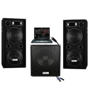 PACK SONO SONO DJ PACK SPORT 2800W CUBE 1512 avec CAISSON Am