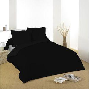 parure de lit noir achat vente parure de lit noir pas. Black Bedroom Furniture Sets. Home Design Ideas