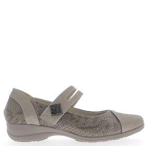 BABIES Chaussures femme confort grises à talon compensé d