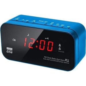 Radio réveil NEW ONE CR 120 BL Radio réveil double alarme Bleu