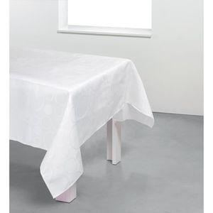 NAPPE DE TABLE Nappe rectangulaire damassée Bubble - 100% polyest