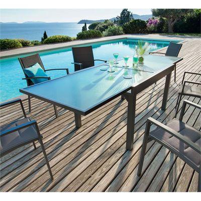TABLE EXTENSIBLE CHAWENG - Achat / Vente salon de jardin TABLE ...
