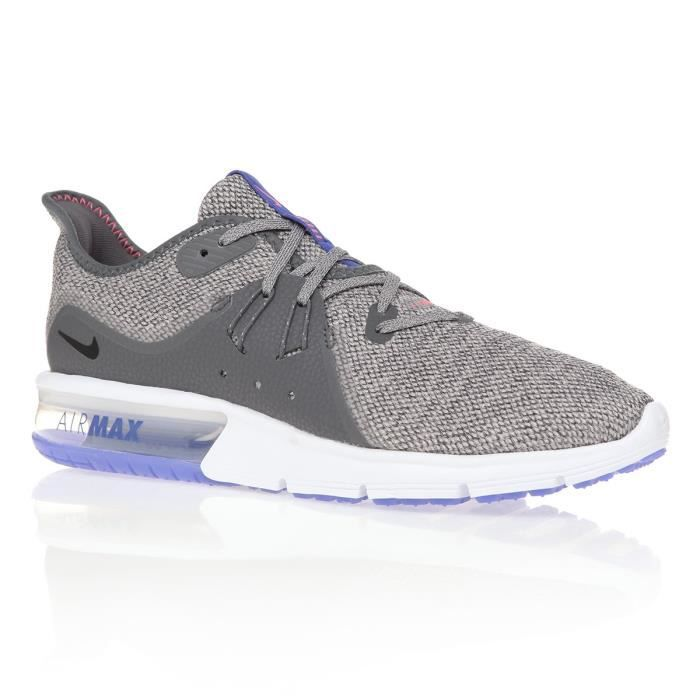 info for 9f561 dfa97 NIKE Chaussures Air Max Sequent 3 - Homme - Gris clair et Blanc