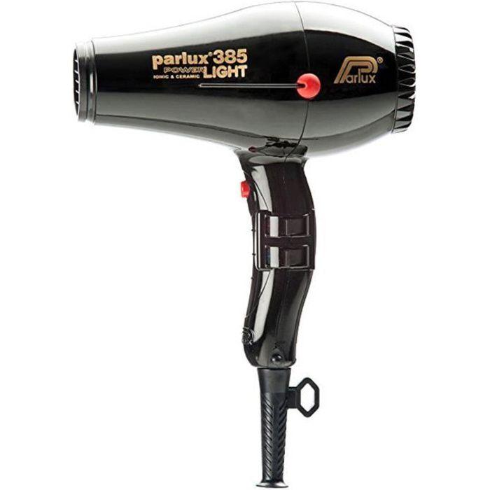 PARLUX Sèche-cheveux - 385 Power Light Ionic et Ceramic - Débit d'air 79 m/h - 2150 W - Noir