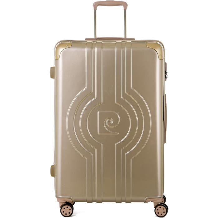 Pierre cardin valise long séjour 75cm avec 8 roues couleur champagne