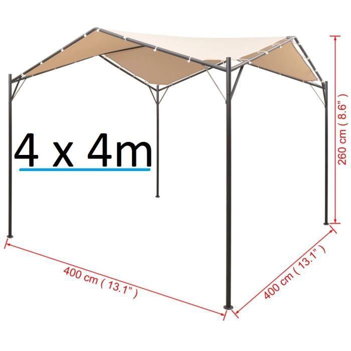 Tente de Jardin 4 x 4 m chapiteau tonnelle tente Auvent ...