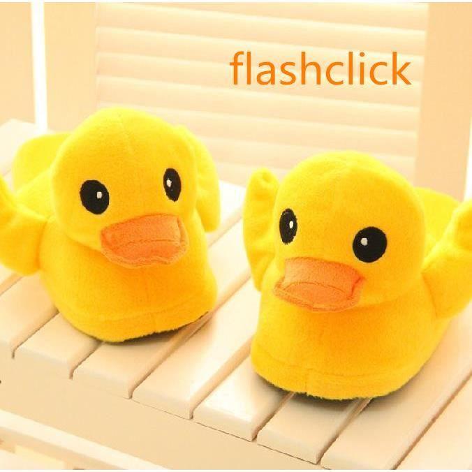 Chaussure chaussure en peluche Big yellow duck lover cadeau d'anniversaire chaud mignon homme femme doux