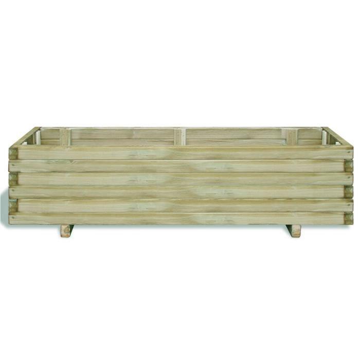 pots et cache pots jardiniere en bois rectangulaire 120 x 40 x 30 cm achat vente jardini re. Black Bedroom Furniture Sets. Home Design Ideas
