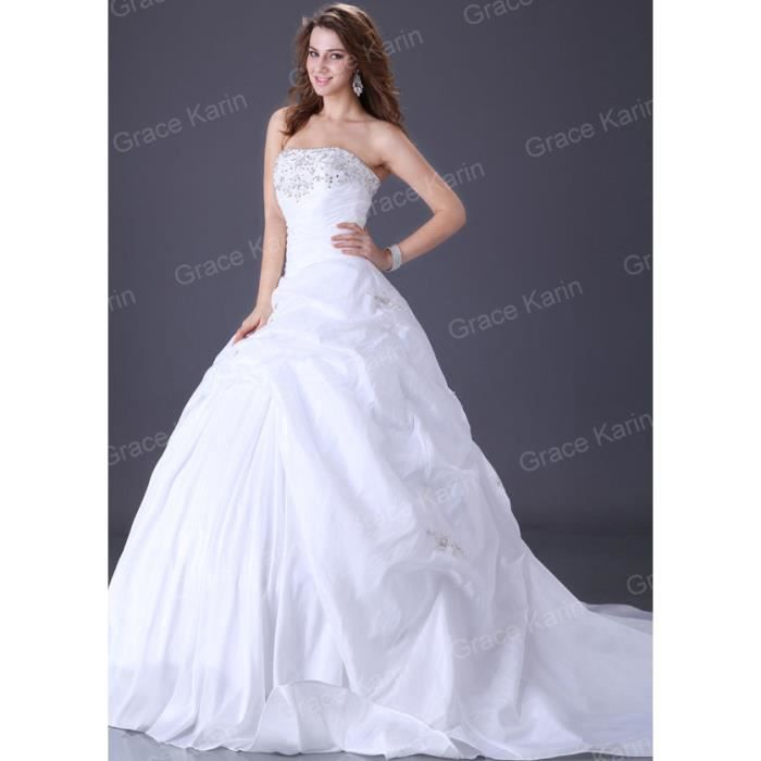 Robe cocktail blanche taille 46