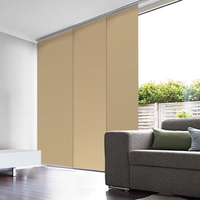 panneau japonais occultant beige 45cm x 260cm achat vente panneau japonais cdiscount. Black Bedroom Furniture Sets. Home Design Ideas