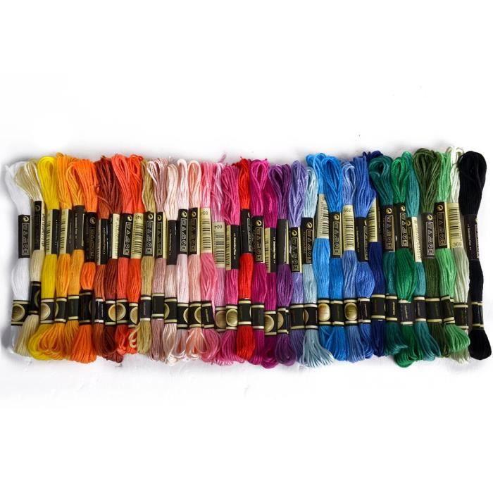 ENFILE AIGUILLE 36 Echevettes de Fils Multicolores Pour Broderie P