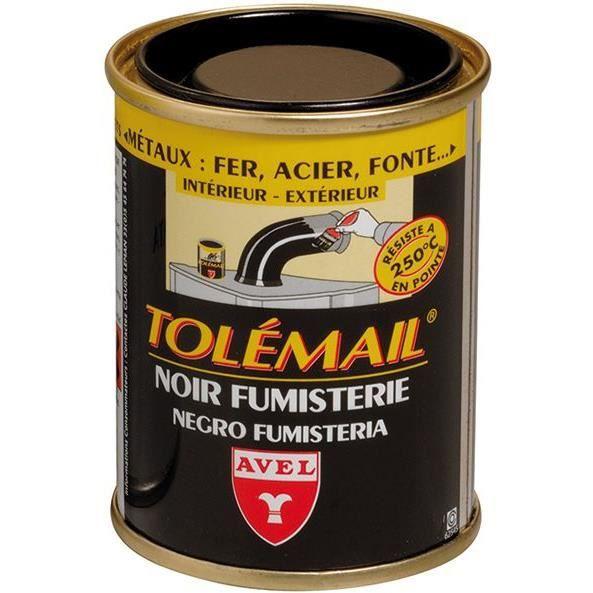 PEINTURE - VERNIS Peinture noir fumisterie Tolémail Avel - 250 ml