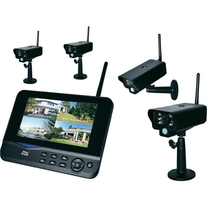 syst me de surveillance professionnel dnt 4 cam achat vente cam ra de surveillance syst me. Black Bedroom Furniture Sets. Home Design Ideas
