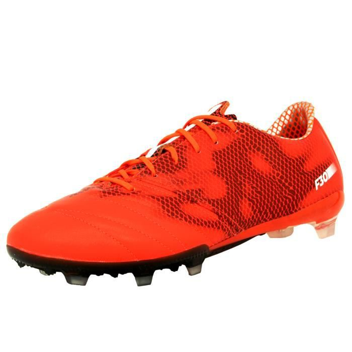 adidas Performance F30 FG LEA Chaussures de Football Homme Cuir Rouge Dribbletex