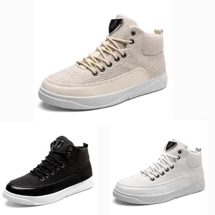 blanc skate Skateshoes Homme Les taille41 Automne style hiver simple d'homme de étudiants Souliers de Y74x17Awq