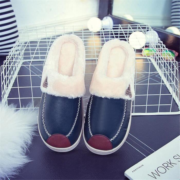 chausson homme hiver chaud maison chaussures hommes intérieur mode pantoufles Série à domicile chaussure Confortable Az6Vp