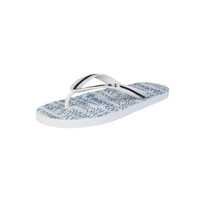 Tongs de l'été Armani Jeans en a656138 blanc et bleu marine