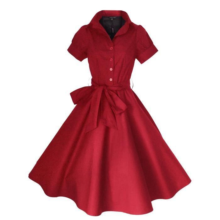 e3a69df76ef4 Vintage de 40 femmes de 50 style Rockabilly - Swing - pin up coton soirée  Tea Party Dress Tailles 8-20 3RZ8VO Taille-44