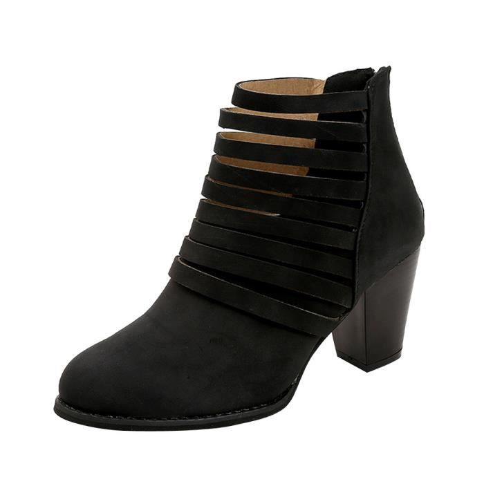Daim Boots love1150 Bottines Bout Pour Femme Fourrure Chaussures En Fausse Beguinstore Carr Moelleuses Noir Martain HnqSvFcaW
