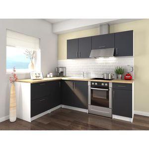 cuisine blanc laque achat vente cuisine blanc laque pas cher cdiscount. Black Bedroom Furniture Sets. Home Design Ideas
