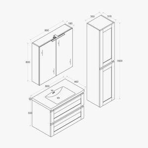 armoire de toilettes miroir meuble haut achat vente pas cher. Black Bedroom Furniture Sets. Home Design Ideas