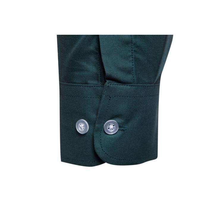 Chemise à manches longues occasionnels pour hommes@armée verte
