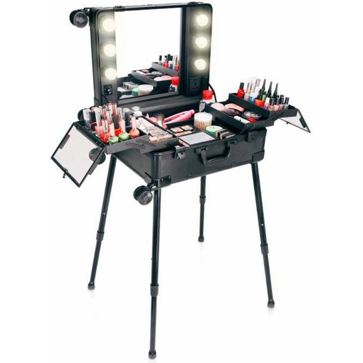 VALISE - BAGAGE Mallette Maquillage Trolley Beauty Case Voyage Val