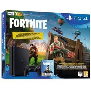 CONSOLE PS4 NOUVEAUTÉ PS4 500 Go Noire + Fortnite