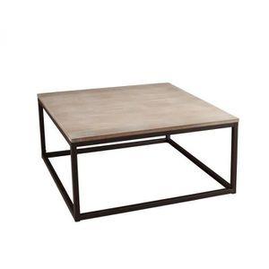 Table basse industrielle metal et bois achat vente pas - Table basse en bois pas cher ...