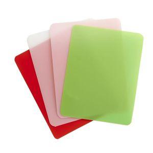 TEFAL FRESH KITCHEN Set fr 4 planches ? découper PM K2083014 25x15x0,3cm vert, orange, rose et blanc