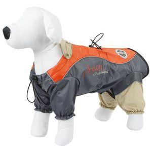 KERBL Imperméable London XS 30cm pour chien - Orange et gris