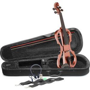 STAGG EVN X-4/4 VBR Pack violon électrique 4/4 couleur violinburst - Etui semi-rigide - Casque